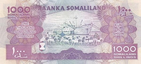 Somaliland 1000 Shillings (2011-2015)