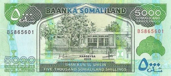 Somaliland 5000 Shillings (2011-2015)