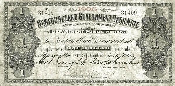 Canada 1 Dollar (Government Of Newfoundland 1901-1908)
