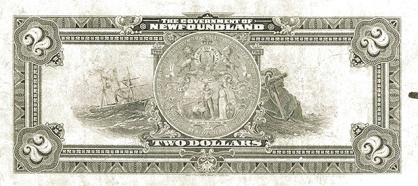 Canada 2 Dollars (Government Of Newfoundland 1920 Treasury Note)
