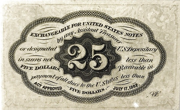 United States 25 Cents (1862 Postage Currency)