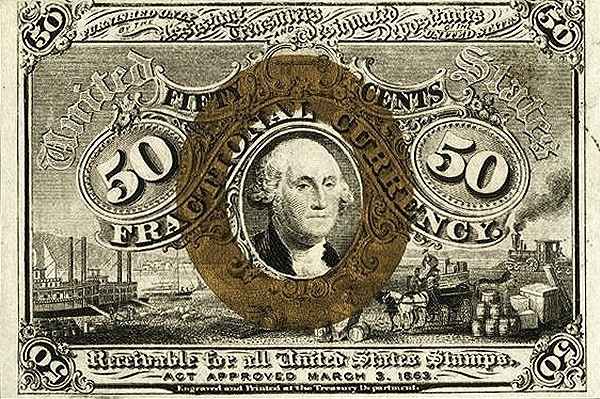 United States 50 Cents (1863 George Washington)