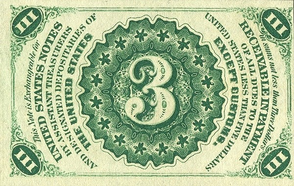 United States 3 Cents (1863 Third Issue)