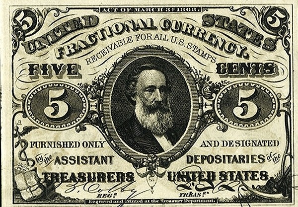 United States 5 Cents (1863 Third Issue)