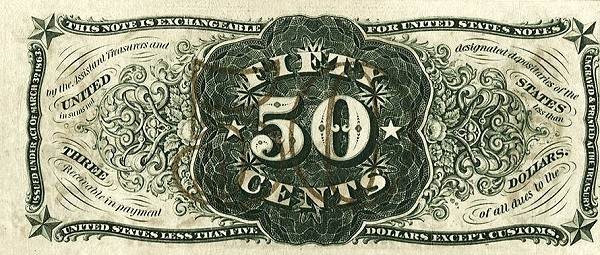 United States 50 Cents (1863 Third Issue)