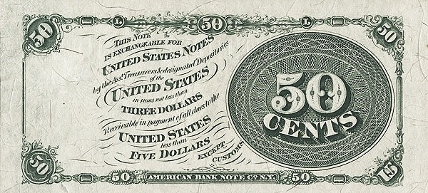 United States 50 Cents (1863 Fourth Issue)