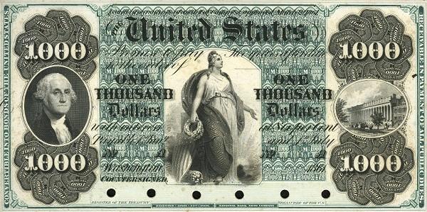 United States 1000 Dollars 1861