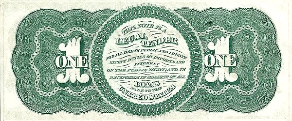 United States 1 Dollar (1862)