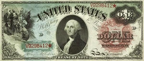 United States 1 Dollar (1869 Rainbow)