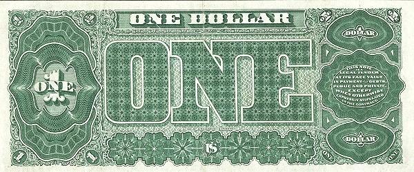 United States 1 Dollar (1890 Treasury Note)