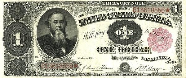 United States 1 Dollar (1891 Treasury Note)