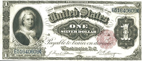 United States 1 Dollar (1891 Silver Certificate)