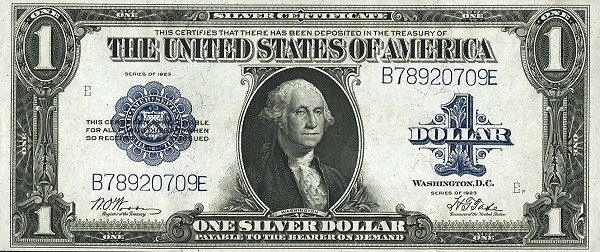 United States 1 Dollar (1923 Silver Certificate)