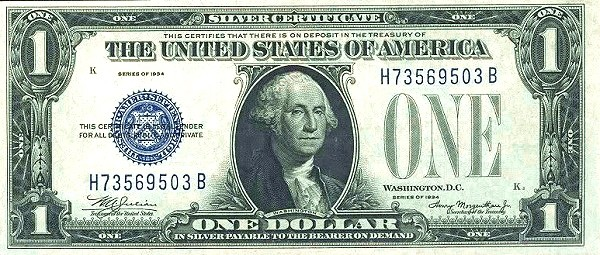 United States 1 Dollar (1934 Silver Certificate)