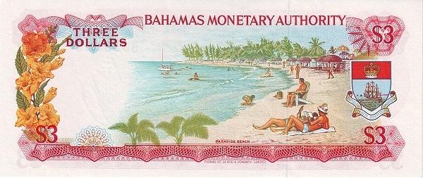 Bahamas 3 Dollars - 1968