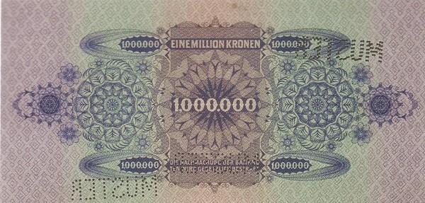 Austria 1000000 Kronen (1924 Oesterreichische Nationalbank)