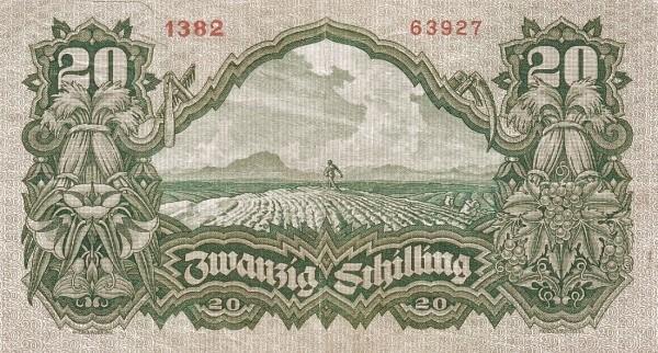 Austria 20 Schilling (1927-1930 Oesterreichische Nationalbank)