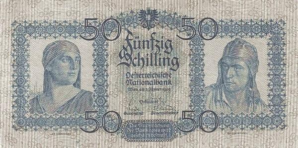 Austria 50 Schilling (1927-1930 Oesterreichische Nationalbank)