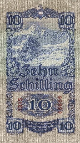 Austria 10 Schilling (1933-1936  Oesterreichische Nationalbank)