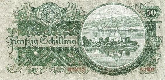 Austria 50 Schilling (1933-1936  Oesterreichische Nationalbank)