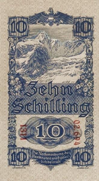 Austria 10 Schilling (1945 Oesterreichische Nationalbank)