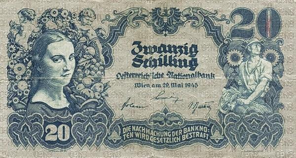 Austria 20 Schilling (1945 Oesterreichische Nationalbank)