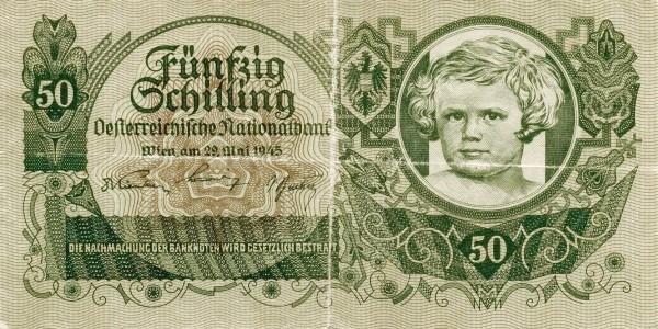 Austria 50 Schilling (1945 Oesterreichische Nationalbank)