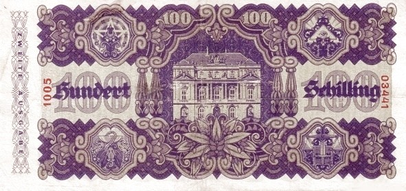 Austria 100 Schilling (1945 Oesterreichische Nationalbank 2nd issue)