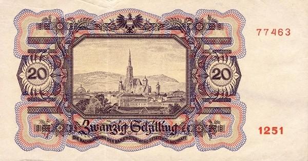 Austria 20 Schilling (1945-1947 Oesterreichische Nationalbank)