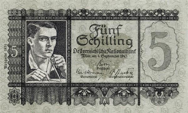 Austria 5 Schilling (1949-1954 Oesterreichische Nationalbank)