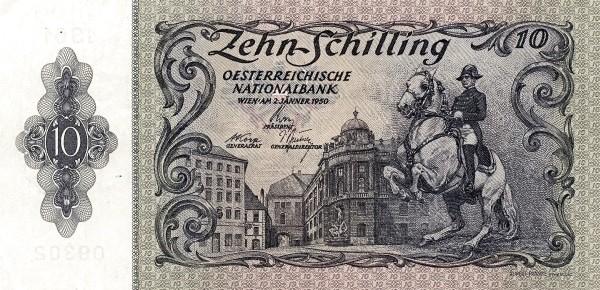Austria 10 Schilling (1949-1954 Oesterreichische Nationalbank)