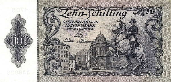 Austria 10 Schilling (1949-1954 Oesterreichische Nationalbank 2nd issue)