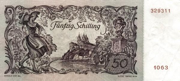 Austria 50 Schilling (1949-1954 Oesterreichische Nationalbank)
