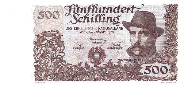 Austria 500 Schilling (1949-1954 Oesterreichische Nationalbank)