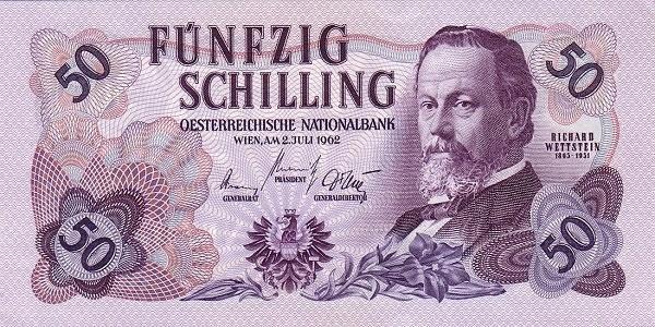 Austria 50 Schilling (1956-1965 Oesterreichische Nationalbank)