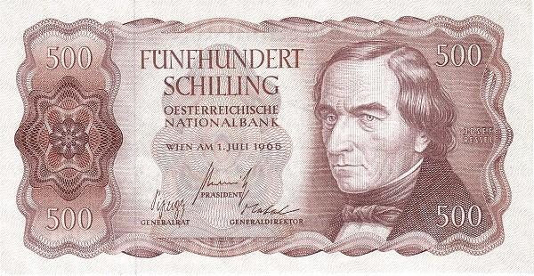 Austria 500 Schilling (1956-1965 Oesterreichische Nationalbank)