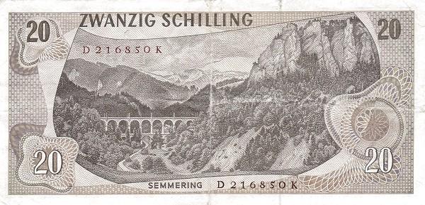 Austria 20 Schilling (1967-1970 Oesterreichische Nationalbank)