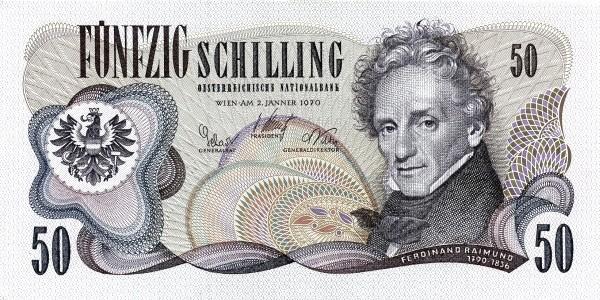 Austria 50 Schilling (1967-1970 Oesterreichische Nationalbank)