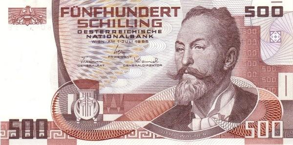 Austria 500 Schilling (1985 Oesterreichische Nationalbank)