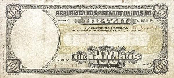 "Brazil 100 Mil Reis (1915 ""100 Mil Reis"")"