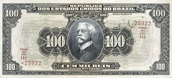 "Brazil 100 Mil Reis (1919 ""100 Mil Reis"")"