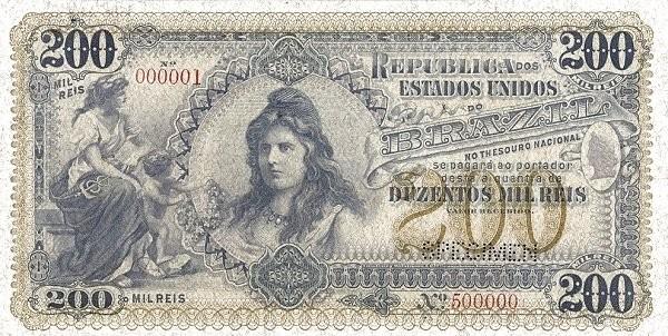 "Brazil 200 Mil Reis (1901 ""200 Mil Reis"")"