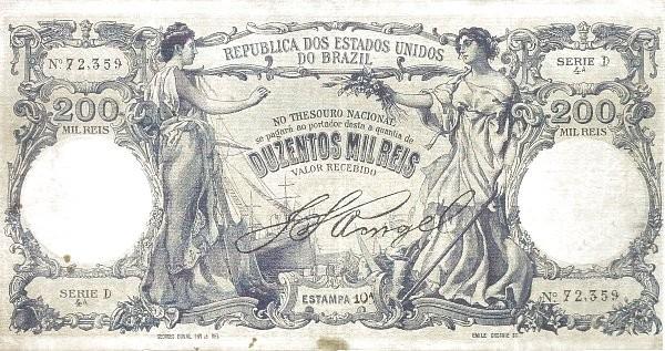 "Brazil 200 Mil Reis (1905 ""200 Mil Reis"")"