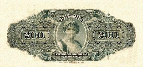 "Brazil 200 Mil Reis (1908 ""200 Mil Reis"")"