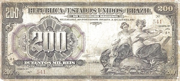 "Brazil 200 Mil Reis (1911 ""200 Mil Reis"")"