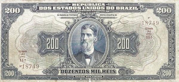 "Brazil 200 Mil Reis (1919 ""200 Mil Reis"")"