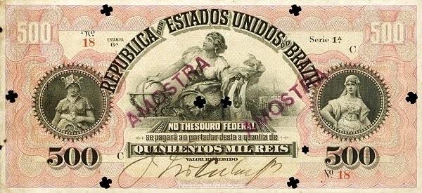"Brazil 500 Mil Reis (1897 ""500 Mil Reis"")"