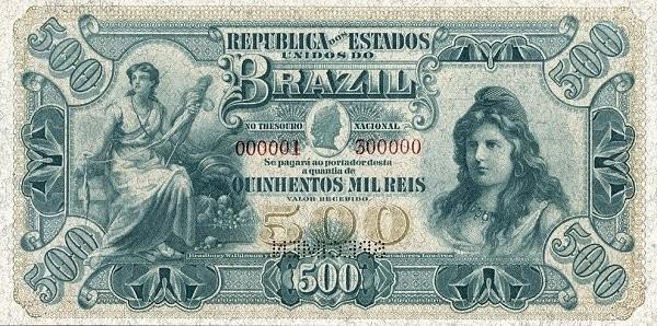 "Brazil 500 Mil Reis (1901 ""500 Mil Reis"")"