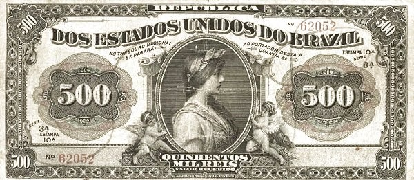 "Brazil 500 Mil Reis (1911 ""500 Mil Reis"")"