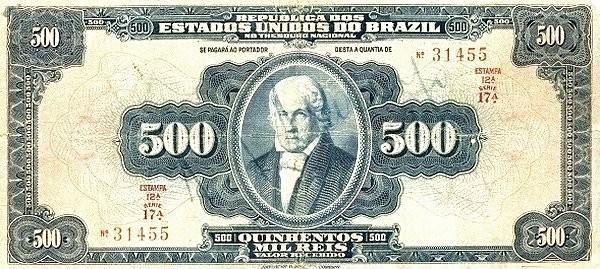 "Brazil 500 Mil Reis (1919 ""500 Mil Reis"")"